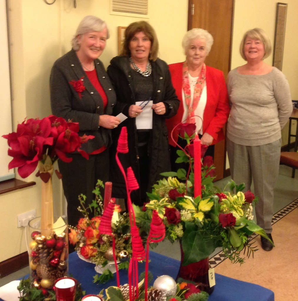 Geraldine Hickey and Hilary Walsh Dundrum Flower Club with Jessica Hanney and Anne O'Dea
