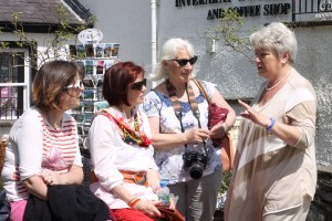 Marie O'Toole with Angeline Whelan, Mary McSweeney & Patricia Johnson Inverary, Scotland, June 2014