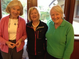 Ann Fleeton with Jessica and Anne at Saturday's Craft Workshop on 25 April