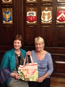 Patsy and Rita O'Regan who made the bag that was gifted to Patsy