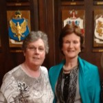 Arts Rep Sheila Hurley and Patsy Mitchell