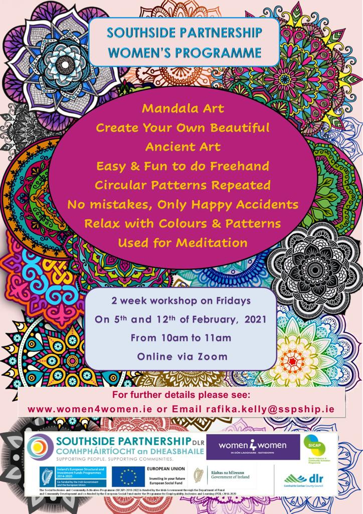 Mandala Art workshop poster